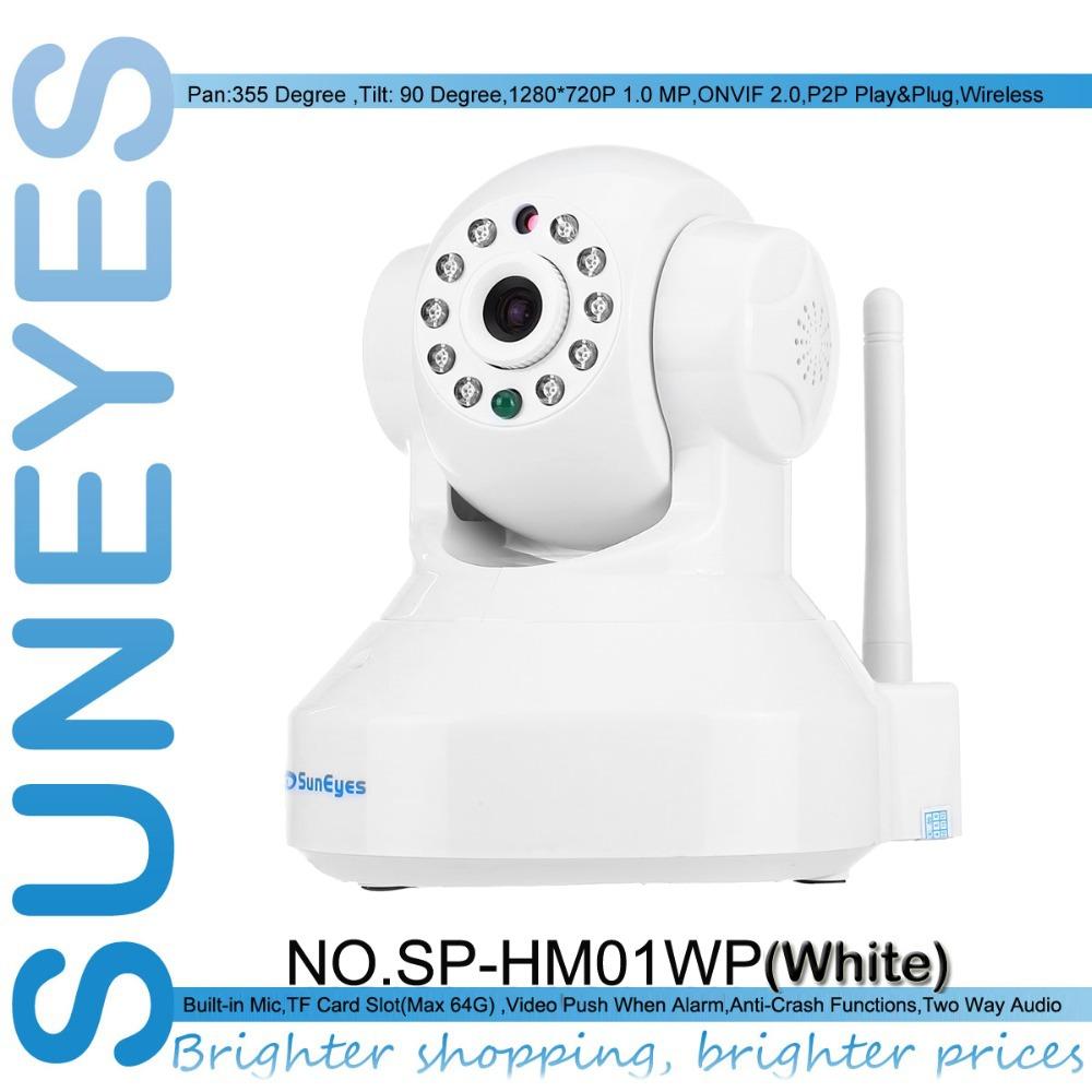 SunEyes SP-HM01WP 1.0MP HD Wireless IP Camera 720P Pan/Tilt Rotation Free P2P with Two Way Audio Micro SD Slot IR Night Vision(China (Mainland))