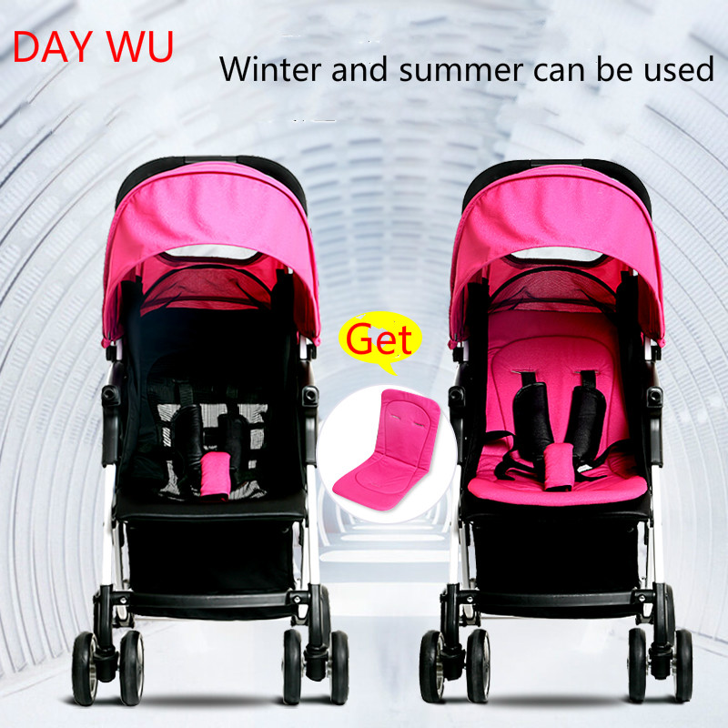 Фотография Portable folding stroller lightweight Buggy stroller baby child can sit or lie four-wheel buggy shock
