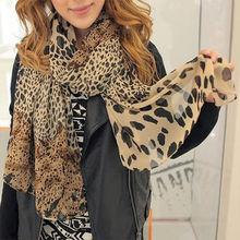 Fashion Female Lady Girl Long Soft Wrap Lady Shawl Silk Leopard Chiffon Silk Scarf Shawl Scarves Stole For Woman(China (Mainland))