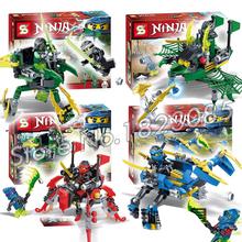4pcs/set SY236 New Phantom Ninja Cole Jay Kai Nya Model Building Kits Minifigures Blocks Bricks DIY Toys Compatible Lego - Last Canvas store