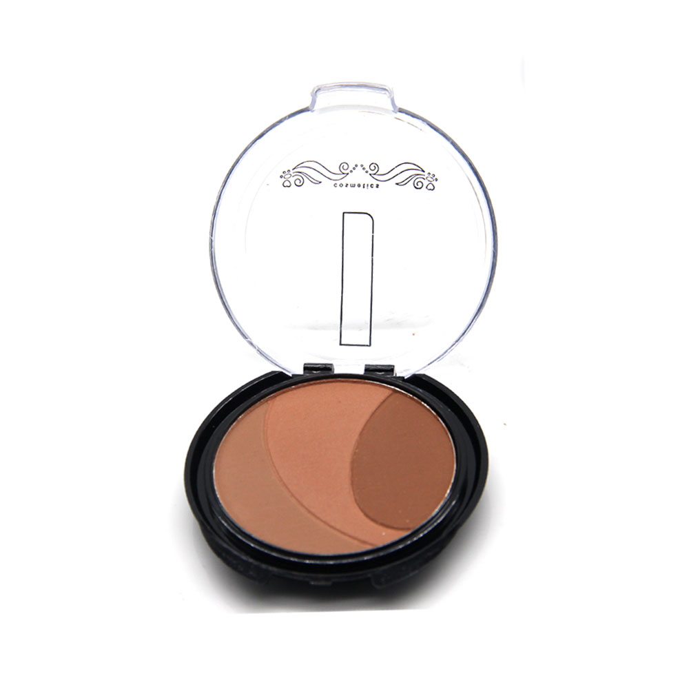 Pigment Eyeshadow Palette 3 Colors Eye Shadow Powder Metallic Shimmer Eyeshadow Maquiagem Profissional Make Up(China (Mainland))
