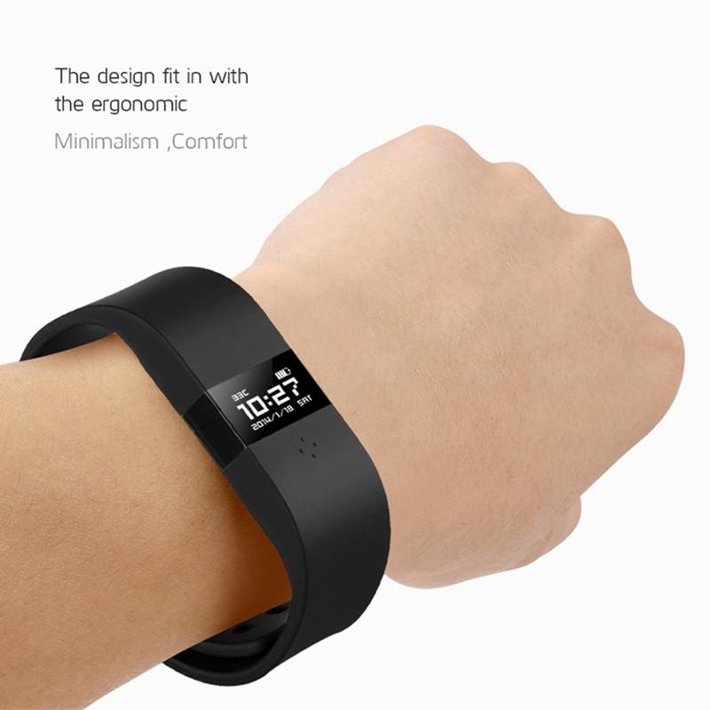 ถูก Digicare ERIบลูทูธสมาร์ทนาฬิกาสายรัดข้อมือไร้สายปรับปรุงS Martband OLEDจอแสดงผลแบบเรียลไทม์PK F Uelband MiBand