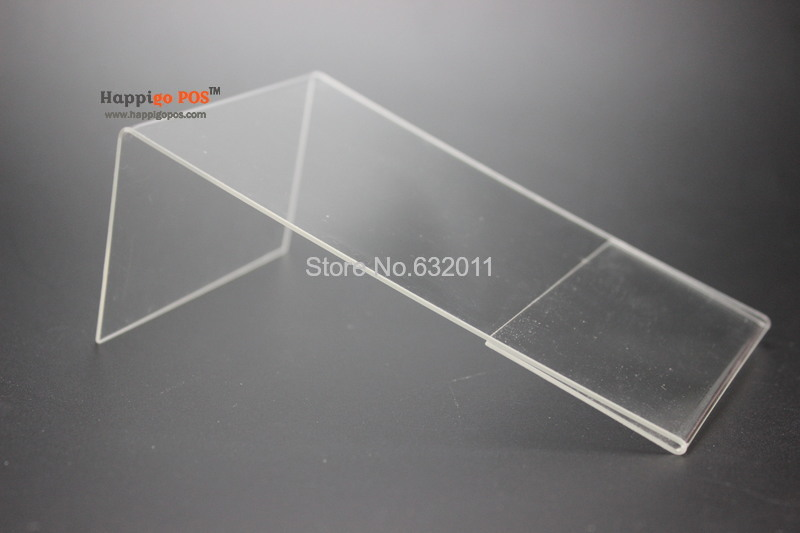 100*150MM 50 pcs acrylic desk table tablet stands sign banner name card showing stand acrylic price list label menu holder(China (Mainland))