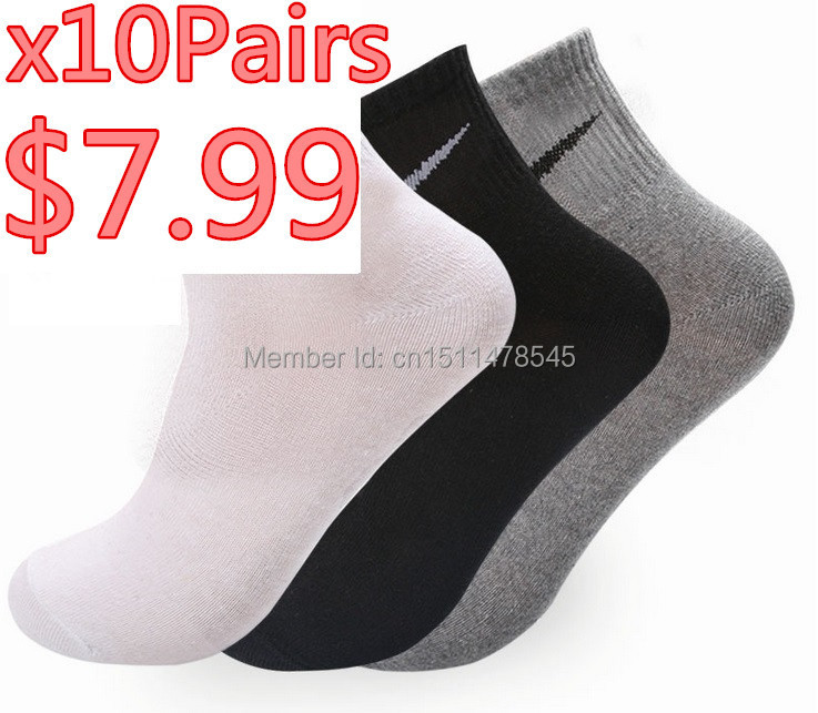 Hot New Men women The Factory Price Free shipping (20pcs=10pairs/lot) Cotton Blend elastic Sport Socks For Football basketball(China (Mainland))