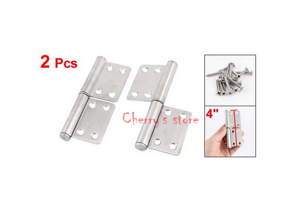 """2 Pcs 4"""" Long Stainless Steel Two Leaves Door Window Flag Hinges(China (Mainland))"""