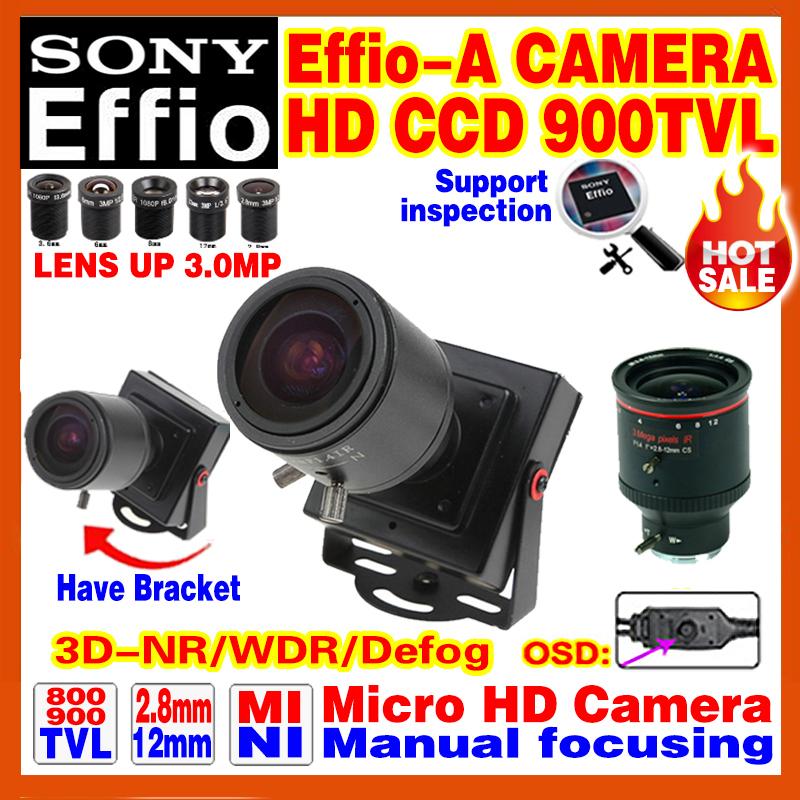 "2016NewStyle Manual Focusing 2.8mm-12mm Lens 1/3""Sony CCD Effio 4140+238 900TVL Analog Security Surveillanc Osd Mini Cctv Camera(China (Mainland))"