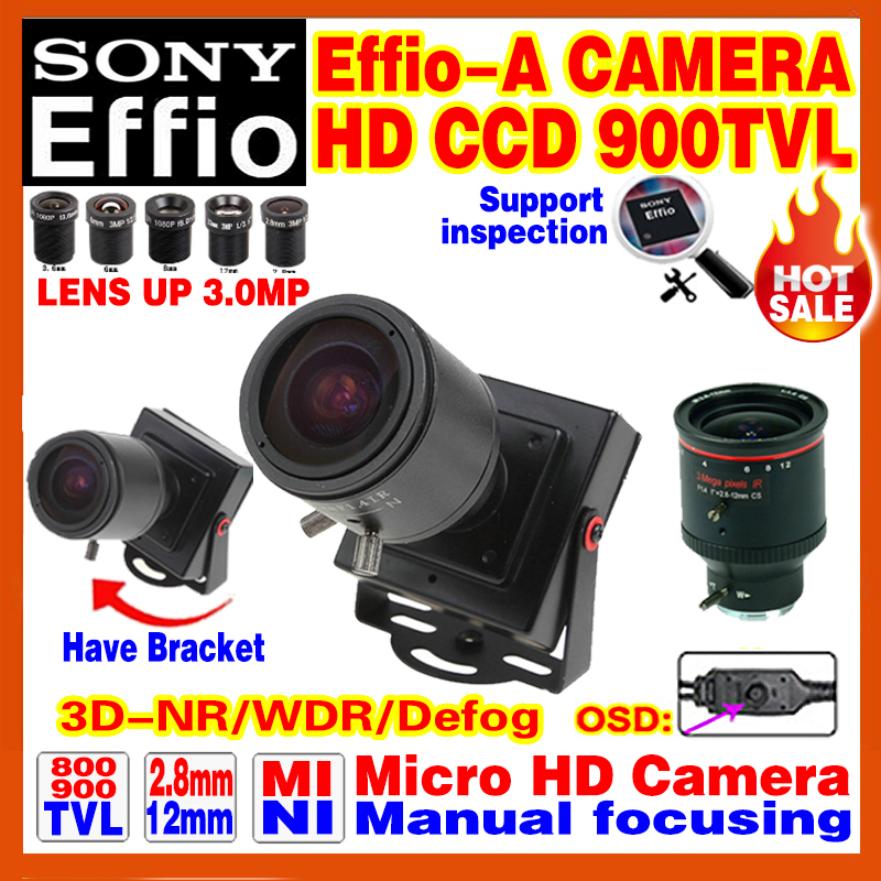 "2016NewStyle Manual Focusing 2.8mm-12mm Lens 1/3""Sony CCD Effio 4140+238 900TVL Analog Security Surveillanc Osd Mini Cctv Camera(China (Mainland))"