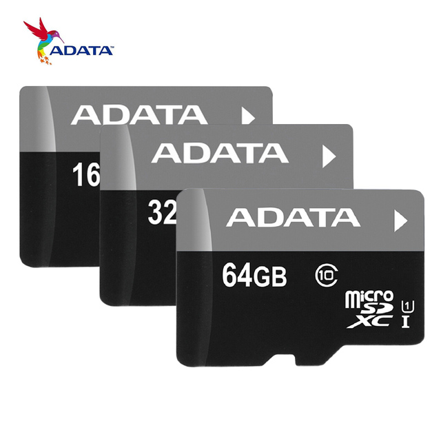 ADATA Memory Card 16G 32GB 64G C10 Micro SD Card TF Trans Flash Card SDHC SDXC UHS-I Class10 MicroSD Class4 4GB 8GB Mikro Card