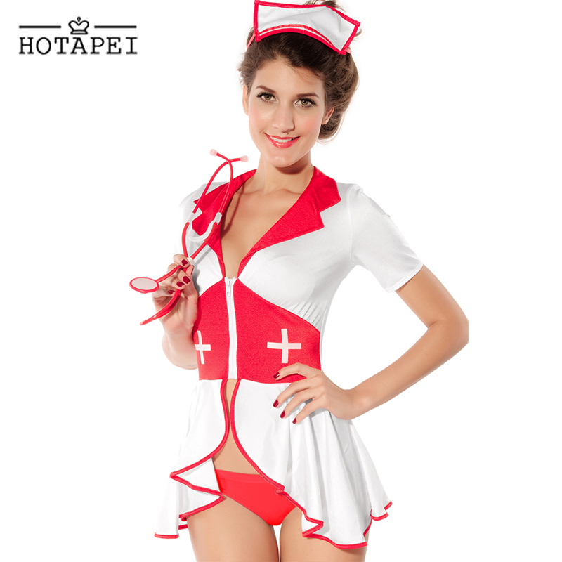 Hotapei Hot Sell Hight Quality Pin Up Nurse Costume LC8055 2016 High Quality Halloween Costume for Women Cosplay Sexy Lingerie(China (Mainland))