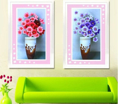 Free Shipping The New 5D DIY Cube Round Diamond Painting Flower Series of Fresh Flower 53x85cm(China (Mainland))