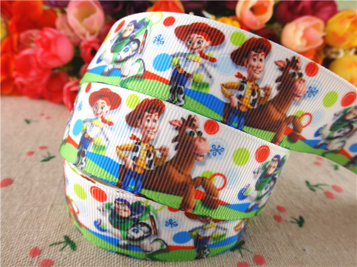 8 Toys Yeards : Mm yards toy story printed grosgrain