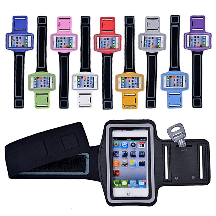 10 Colors Wholesale Universal Running Sports Armband Gym Belt Phone Bag Case Arm Band Holder For iPhone 4 4s