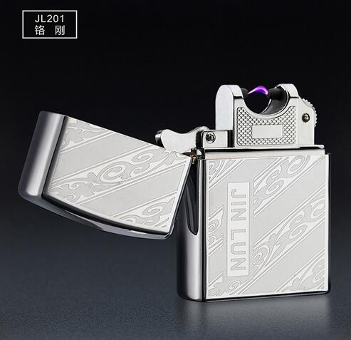 2016 Electronic Cigarette lighter Windproof ultra-thin Metal pulse USB Rechargeable Flameless Electric Cigar Cigarette Lighter(China (Mainland))