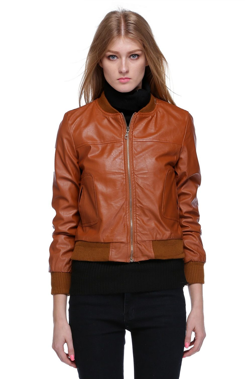 Womens leather jacket in tall – Modern fashion jacket photo blog