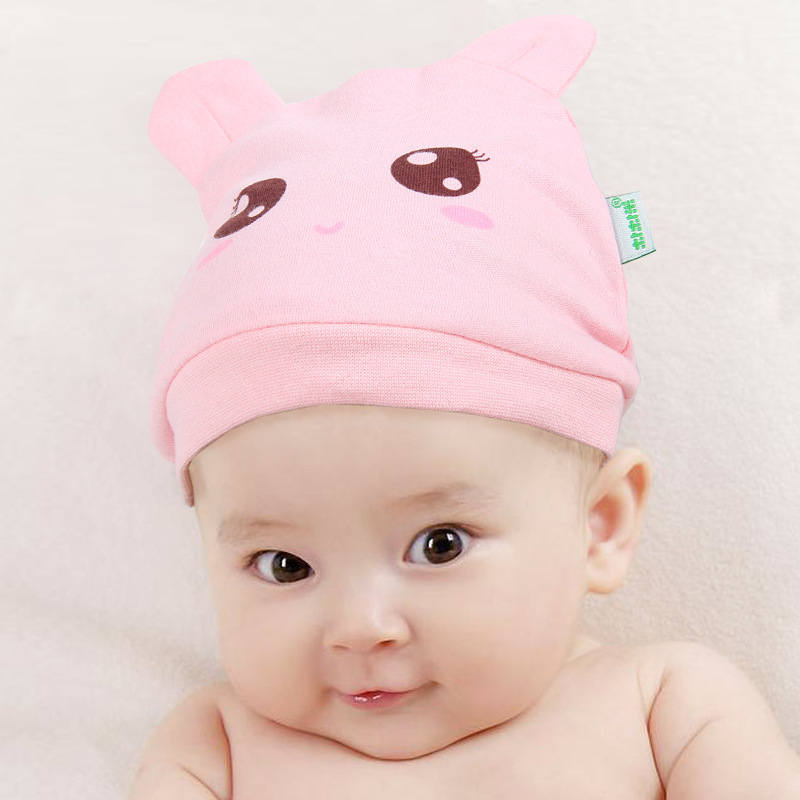 New 100% cotton infant hat ,spring autumn baby Windcap, 3 colors cap for kids of 0-1 years old NMB-090(China (Mainland))
