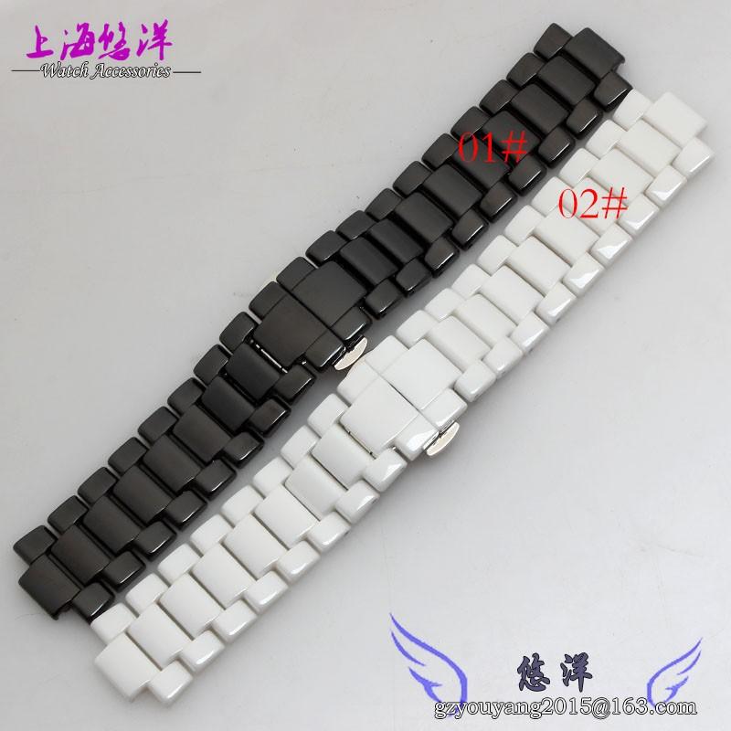 Новых женщин 22 * 11 мм черный керамический ремешки ремешок браслет замена ремешок для AR1417