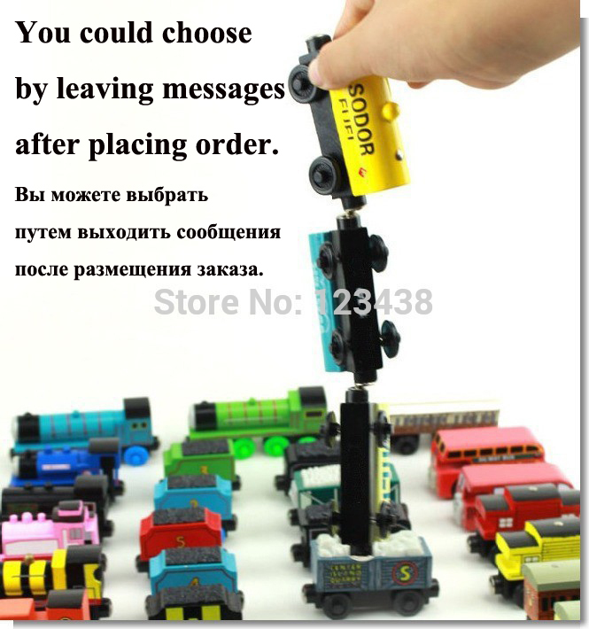 5pcs/lot Wooden Magnetic Thomas Circus Train Donald Lady Gordon Tomas and Friends Lorry Track Railway Vehicles Diecast Toy(China (Mainland))