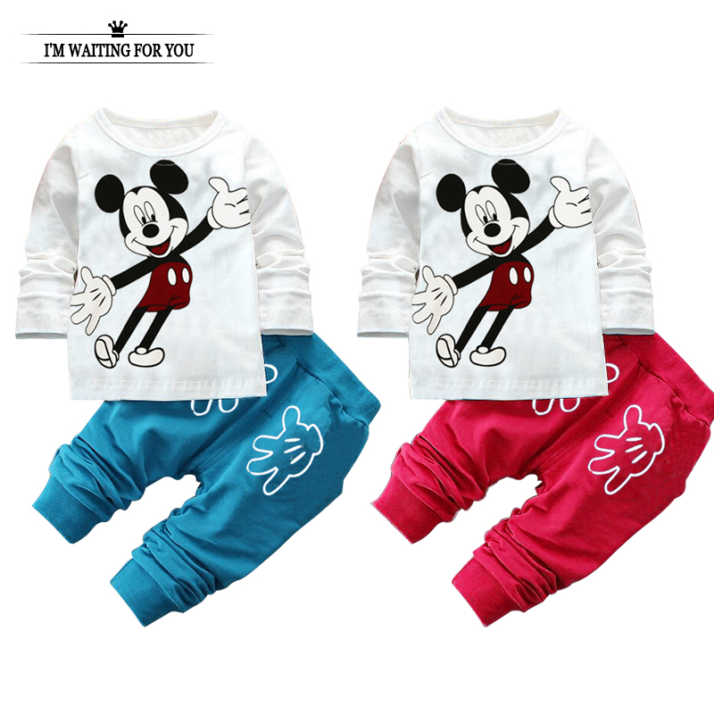 spring autumn baby clothing set minnie cotton newborn baby clothes high quality girl boy shirt