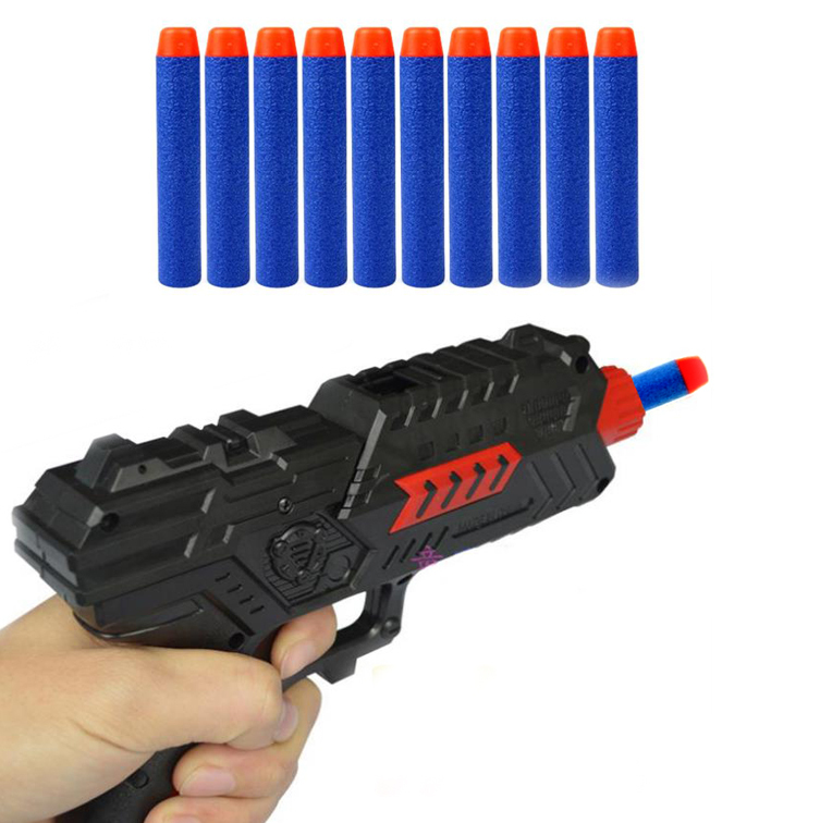 10 Pcs/Lot Round Head Toy Gun Bullet Darts for Children N-strike Series Blasters EC076(China (Mainland))