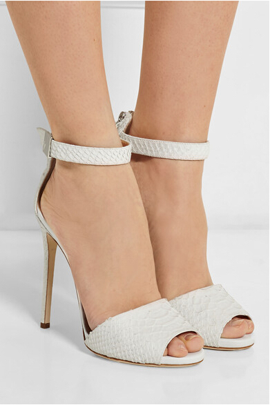 name brand open toe high heel sandals ankle buckle