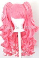 ZCD D&M32056 >Gothic Lolita Wig + 2 Pig Tails Set Light, Dark Pink Mix Blend Cosplay NEW Discount 35%(China (Mainland))