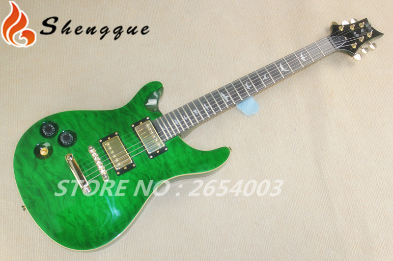 2015 new arrival !Wholesale and Retail PRS guitar green color New Arriva Custom 24 Electric Guitar(China (Mainland))