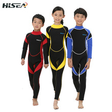 kids wetsuits 3mm neoprene Children's wetsuit for boys swimming diving Rash guard surfing(China (Mainland))