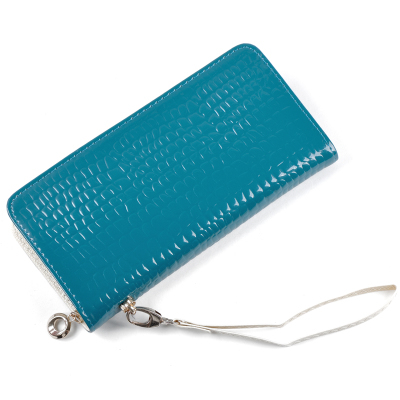 European style classic Fashion Women Phone package Ladies Brand Clutches Purse Leather Zipper - C Bags store