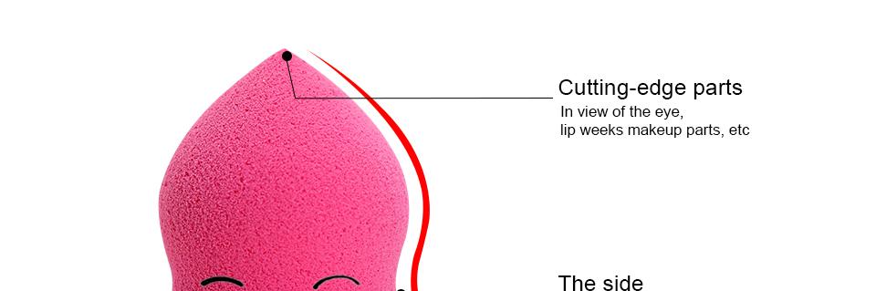 Atacado 1 Pc Beleza Cosméticos Fundação Sopro Esponja de Maquiagem Facial Maquiagem Flawless Powder Puff Compõem Esponja ferramenta de beleza