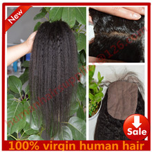 mongolian kinky straight silk base closure bleached knots coarse yaki silk closure italian yaki silk base closure with baby hair