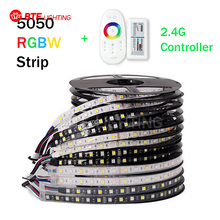 5M RGBW LED Strip 5050 DC12V SMD 60Leds/M Flexible Bar Light + 2.4G wireless Touch Screen RF Controller(China (Mainland))