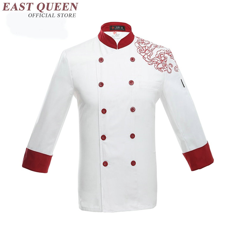 Restaurant uniform shirt hotel kitchen uniforms men chef shirt clothing hotel male cooks clothing chef clothes jacket NN0042(China (Mainland))