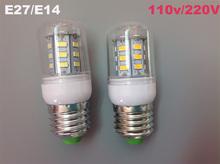 E14 E27 Corn Light Led Lamps 5730 220V/110V 24LEDS Lights Corn Led Bulb Christmas Chandelier Candle Lighting free shipping