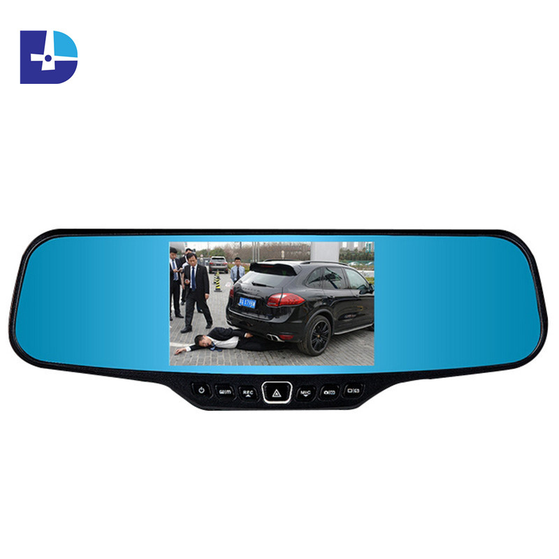 high quality 4.3 inch rearview mirror car dvr camera full hd 1080p car dvr video recorder 170 wide angle vehicle Black box DVR(China (Mainland))