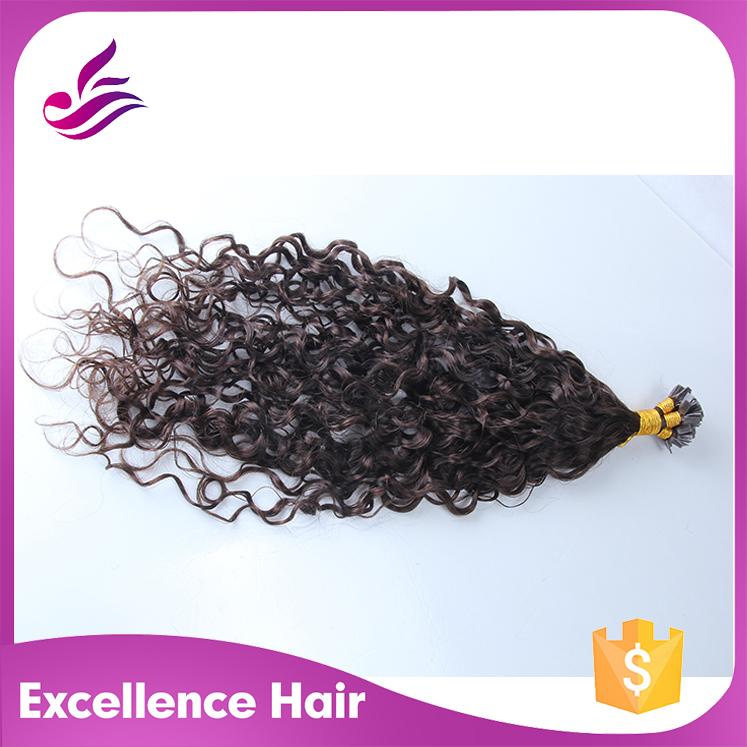 Hot Selling Flat Tip Brazilian Human Hair 1 Gram Each Strand Pre Tipped Fusion Human Hair Extension Pre bonded Virgin Hair(China (Mainland))