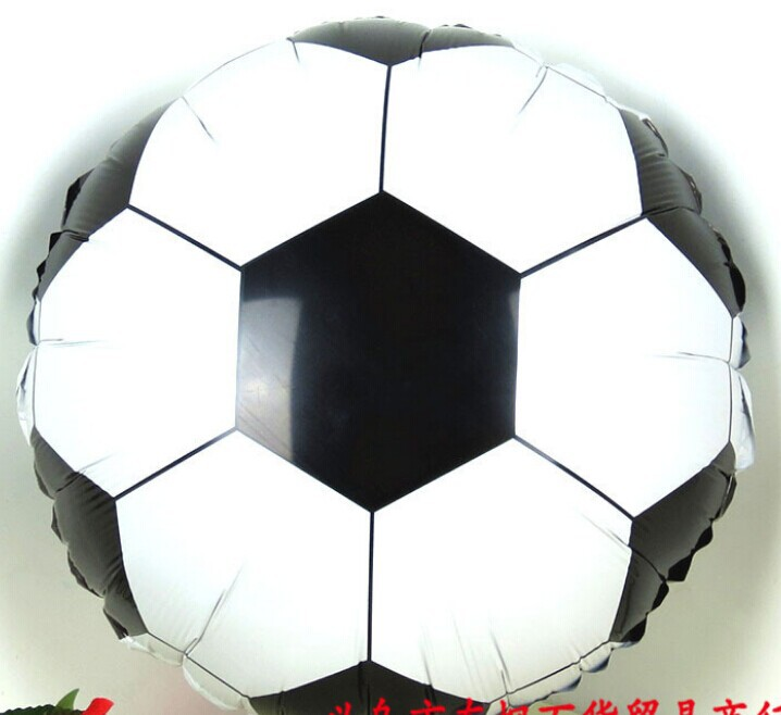 foil balloons football helium ballons bexigas para festas birthday party decorations kids baloes 20/lot 18inch free shipping(China (Mainland))