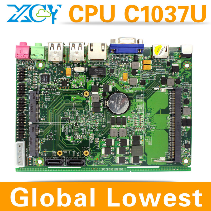 Low price and best quality XCY X-26x Mini-ITX motherboard ATX mini motherboard cheap all in one desktop pc 2*MIC, 2*SPK(China (Mainland))