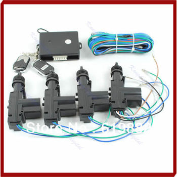 A31 12VCar Remote Control Conversion 4 Door Power Central Lock Kit With 2 Keyless Entry + Drop Shipping