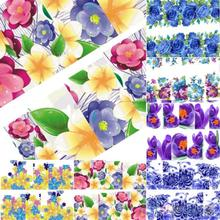 Beautiful Flowers Nail Art Nail Decals Water Transfer Stickers Decoration Hot 1UAY