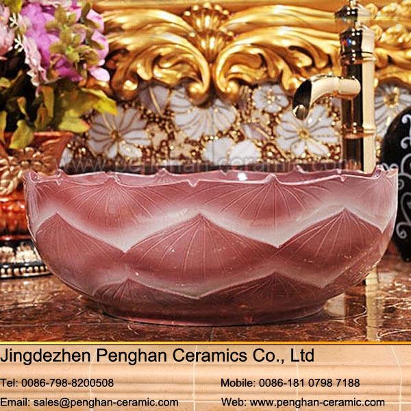 Ceramic vessel sinks round countertop wash basin simple design customize from ceramic manufacturer bathroom sink(China (Mainland))