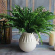 7 Branches and 19 Leaves Artificial Fern Bouquet Silk Green Plants Fake Persian Leaves Foliage For Home Wedding Decor(China (Mainland))