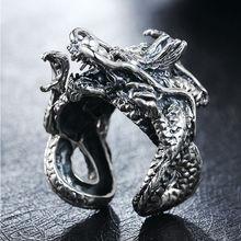 S925 стерлингового серебра кольца ювелирные изделия дракон мода панк кольцо для мужчин и женщин special ювелирные день рождения freeshipping(China (Mainland))