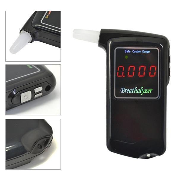 Купить Портативный Профессиональный Полиция Электронной Цифровой Тестер Спирта Дыхание алкотестер с ЖК-экран