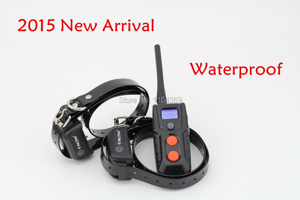 2015 New Arrival backlight dog shock collar Waterproof and rechargeable training collar accessories Free shipping two dogs(China (Mainland))