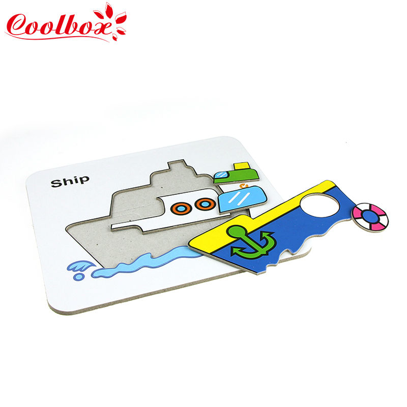 Kids Animals/Traffic shapes puzzle Educational Toys Games For Children Gifts puzzles with drawing Toys/doodle Puzzles board toys(China (Mainland))