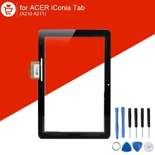 10.1 inch 100% Original Touch Screen For Acer iConia Tab A210 A211 Touch Screen Replacment Black(China (Mainland))
