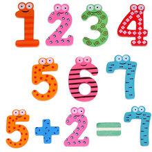 15 Pcs/Set nombre mignon bébé enfants enfants belle en bois Alphabet réfrigérateur aimants bâton Figure éducation apprendre jouets(China (Mainland))
