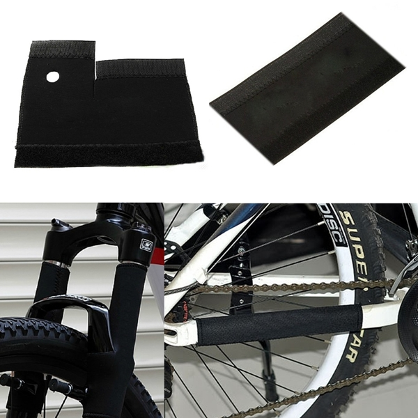 Hot 1pair/ 2pcs Bicycle Frame Chain Protector Cycling Mountain Bike Stay Front Fork Protection Guard Protective Pad Wrap Cover(China (Mainland))