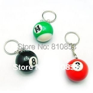 Free shipping 16 Pieces/lot,Small Billiards Key Rings, Alloy Key Chains Gift  Wholesale #0829