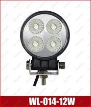 Working lamp 12W 3W/led Industrial Lighting / floodlight Bus Tractor Vehicle SUV Train WL-014-12W FFF(China (Mainland))